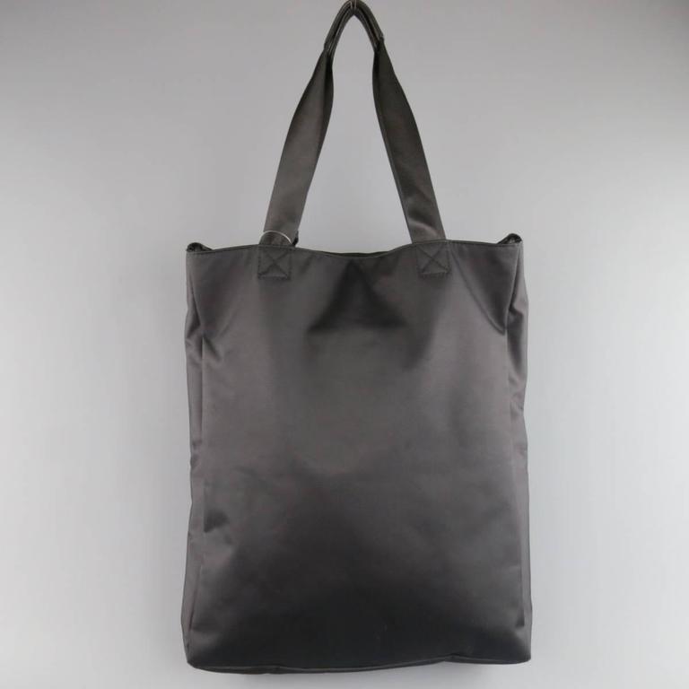 e098394a731c Y s by YOHJI YAMAMOTO MANDARINA Black Nylon Crossbody Tote Bag For Sale 3