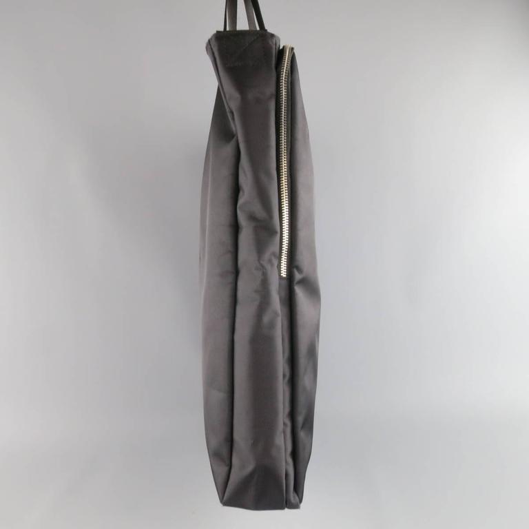 643e4938b823 Y s by YOHJI YAMAMOTO MANDARINA Black Nylon Crossbody Tote Bag For Sale 4