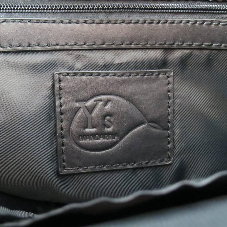 d34073705590 Y s by YOHJI YAMAMOTO MANDARINA Black Nylon Crossbody Tote Bag For Sale 6