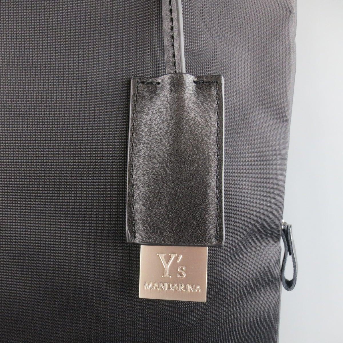 80371431ffe9 Y s by YOHJI YAMAMOTO MANDARINA Black Nylon Crossbody Tote Bag at 1stdibs
