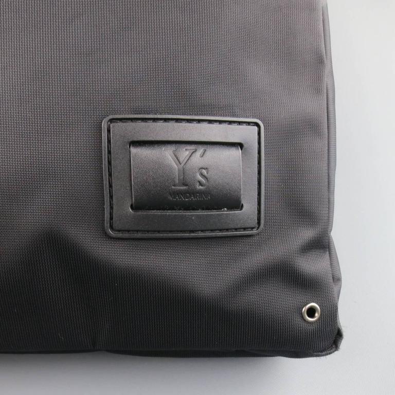 d505301ff9fc Y s by YOHJI YAMAMOTO MANDARINA Black Nylon Crossbody Tote Bag In Excellent  Condition For Sale In