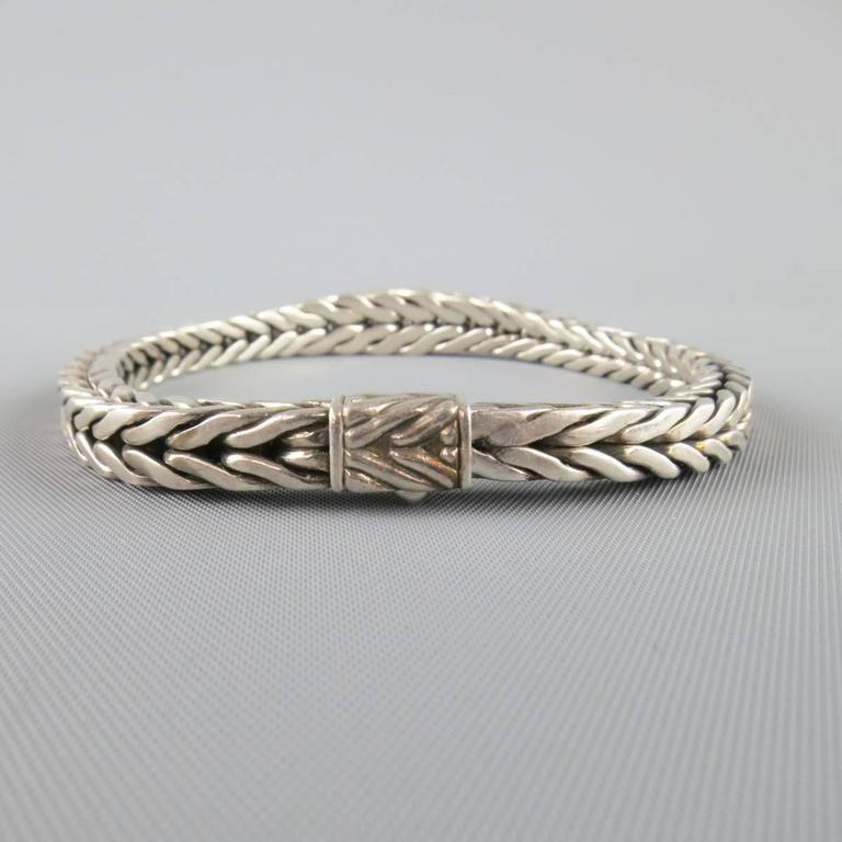 John Hardy Sterling Silver Braided Snake Chain Bracelet At