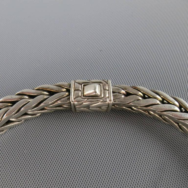 John Hardy Sterling Silver Braided Snake Chain Bracelet At