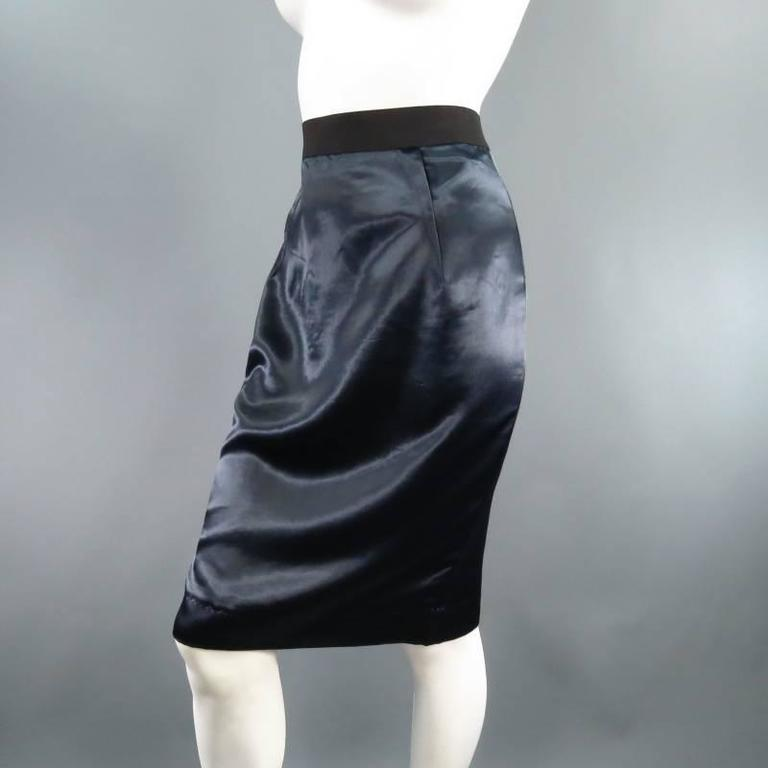 8a3e9ea31439 Lovely navy pencil skirt by LANVIN. A classic staple redesigned, this piece  comes in