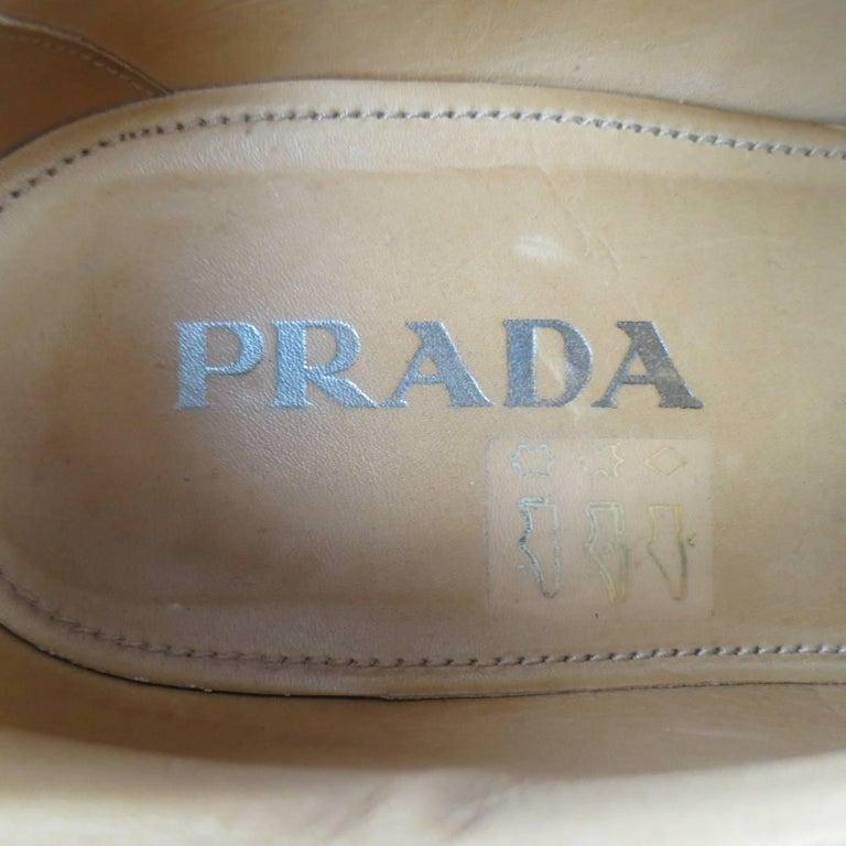 Men's PRADA Size 9.5 Multi-Color Wingtip Platform Espadrille Brogues Spring 2011 For Sale 4