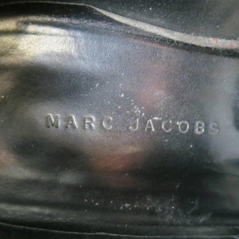 Men's MARC JACOBS Size 10 Black Patent Leather Lace Up Derbys For Sale 3