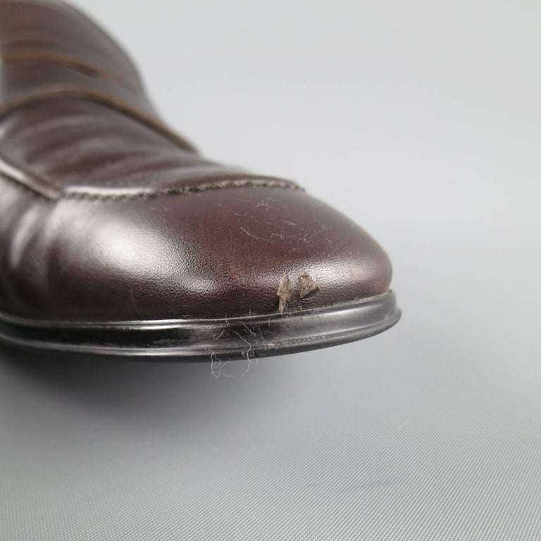 Men's SALVATORE FERRAGAMO Size 8.5 Brown Leather Penny Loafers 4