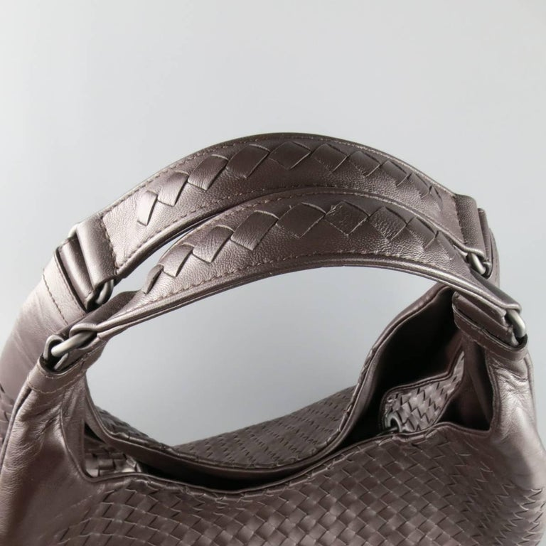 BOTTEGA VENETA Brown Woven Intrecciato Leather Campana Hobo Bag 5