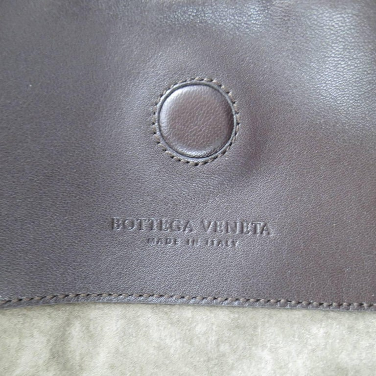 BOTTEGA VENETA Brown Woven Intrecciato Leather Campana Hobo Bag 10