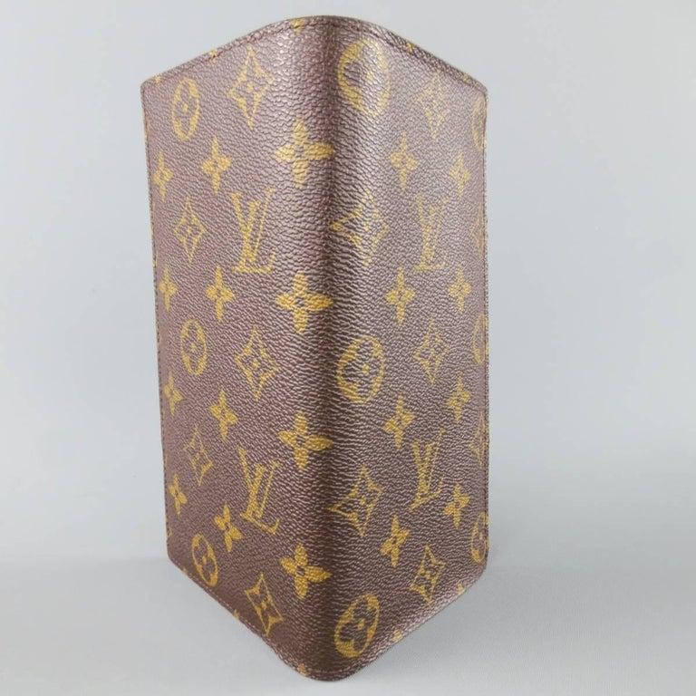 Louis Vuitton Brown Monogram Canvas Brazza Wallet At 1stdibs