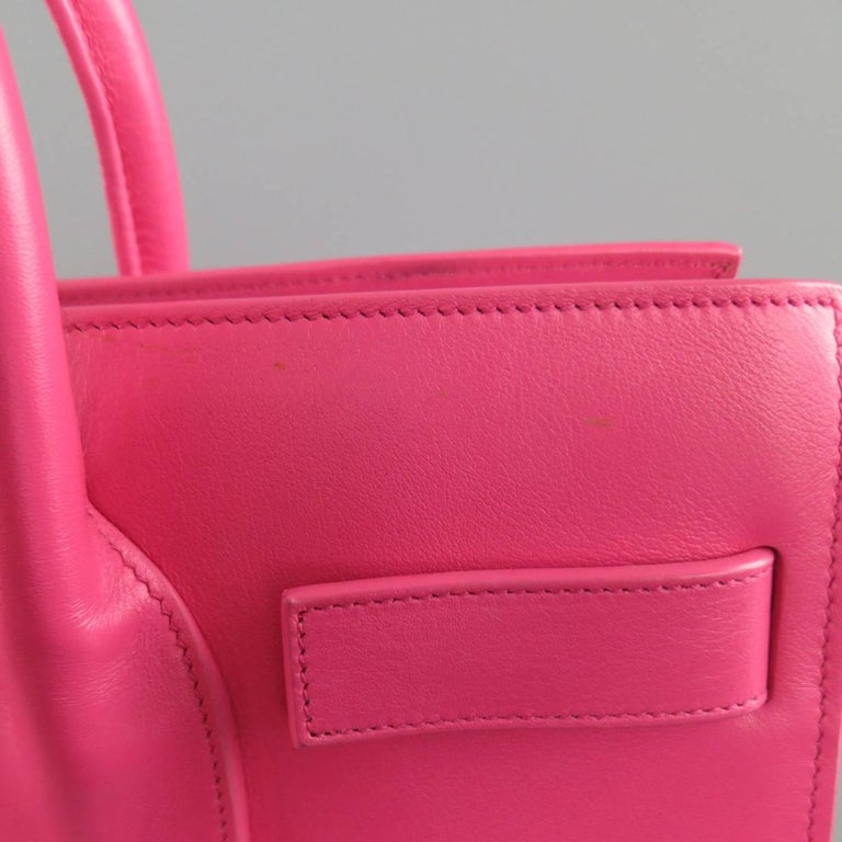 SAINT LAURENT Pink Leather Small Sac Du Jour Handbag 2
