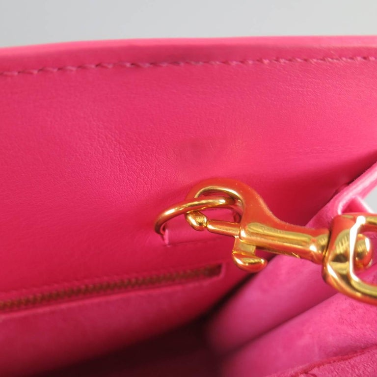SAINT LAURENT Pink Leather Small Sac Du Jour Handbag 9