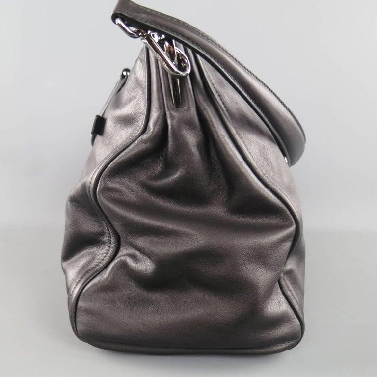 PRADA Black Leather Snap Zipper Shoulder Handbag 7