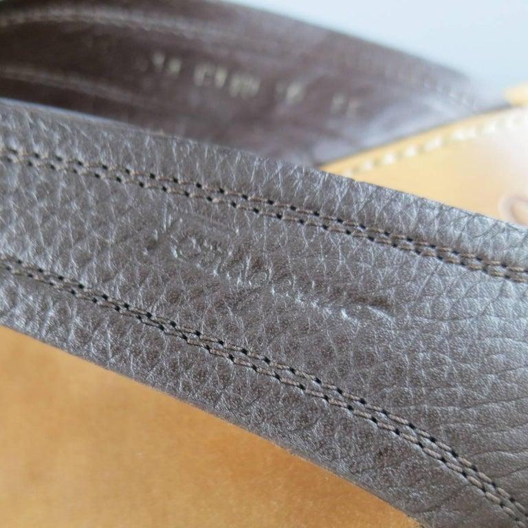Men S Salvatore Ferragamo Size 11 Brown Textured Leather