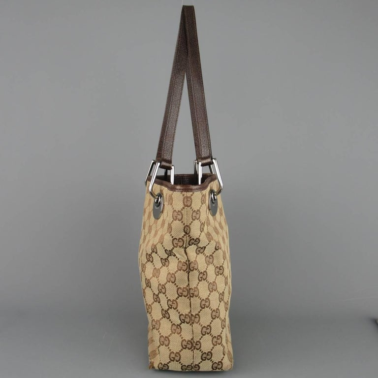 b160f1a759f5 GUCCI Beige Guccissima Monogram Canvas Leather Handle Mini Tote Bag In Fair  Condition For Sale In