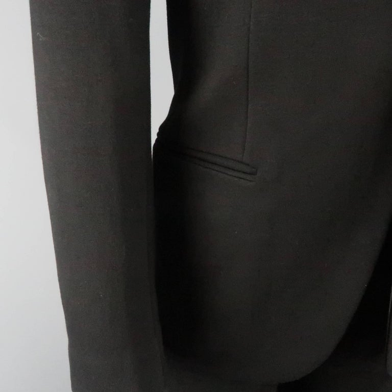 Men's New GIORGIO ARMANI 38 Regular Black Jersey Satin Tuxedo Suit- Retail $3,195.00 For Sale
