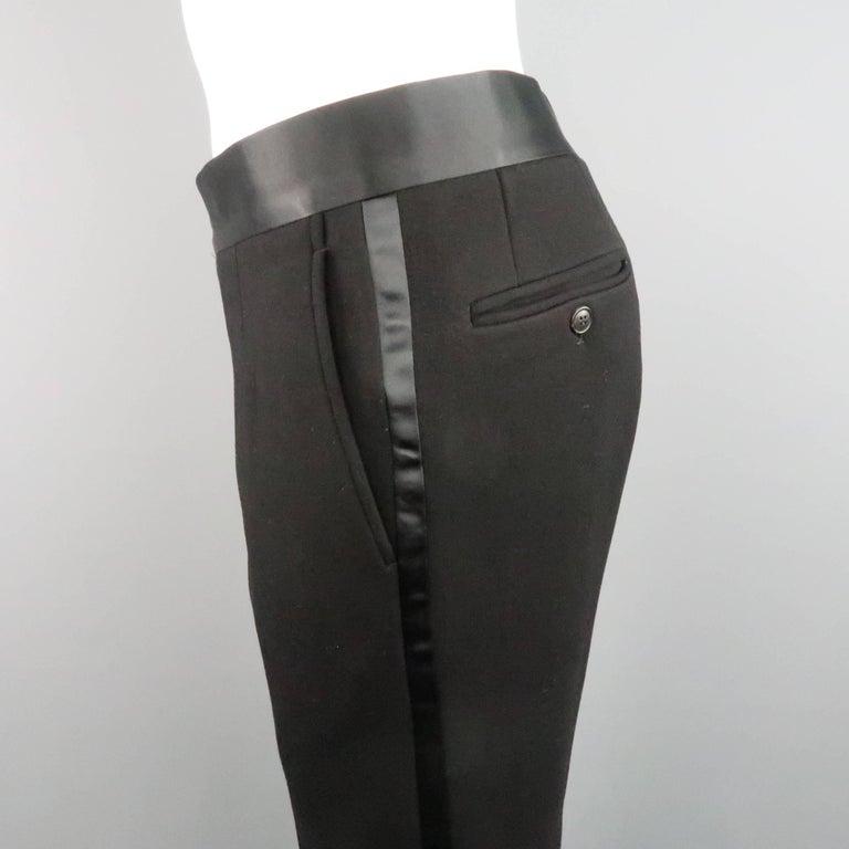 New GIORGIO ARMANI 38 Regular Black Jersey Satin Tuxedo Suit- Retail $3,195.00 For Sale 5