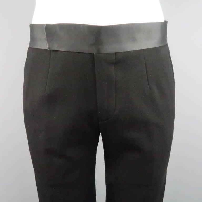 New GIORGIO ARMANI 38 Regular Black Jersey Satin Tuxedo Suit- Retail $3,195.00 For Sale 4