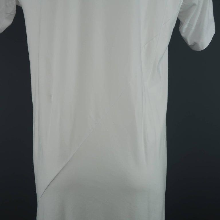 Men's COMME des GARCONS Size M White Roger Ballen Cotton Tall T-shirt For Sale 2