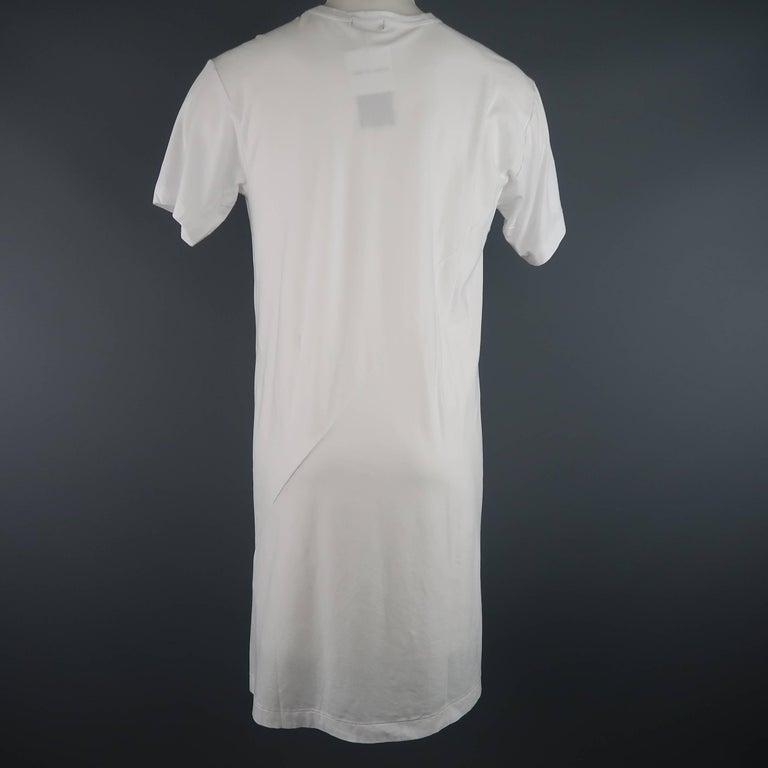 Men's COMME des GARCONS Size M White Roger Ballen Cotton Tall T-shirt For Sale 1