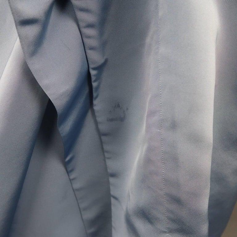 Carolina Herrera Size 10 Light Blue Silk Gathered Train Evening Skirt 5