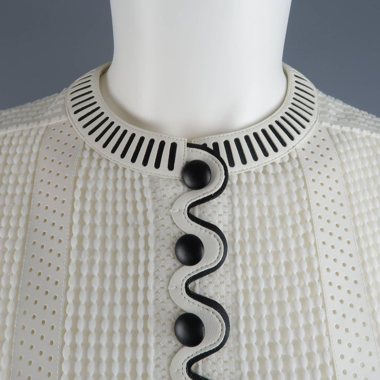 Louis Vuitton Size 4 White Crochet and Perforated Leather ...