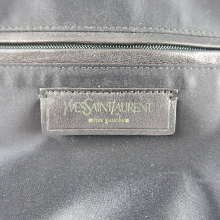 Yves Saint Laurent Green and Gold Chain Quilted Velvet Sac Luxembourg Bag  For Sale 4 86b449374ec65