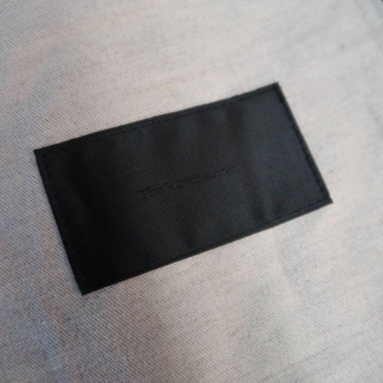 Men's THE VIRIDI-ANNE 42 Navy Plaid Silk / Linen 4 Button Sport Coat Jacket For Sale 4