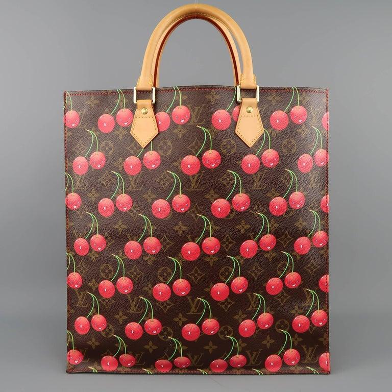 1f224b2db90f Louis Vuitton Takashi Murakami Brown Cherry Cerises Sac Plat Tote Bag For  Sale 1