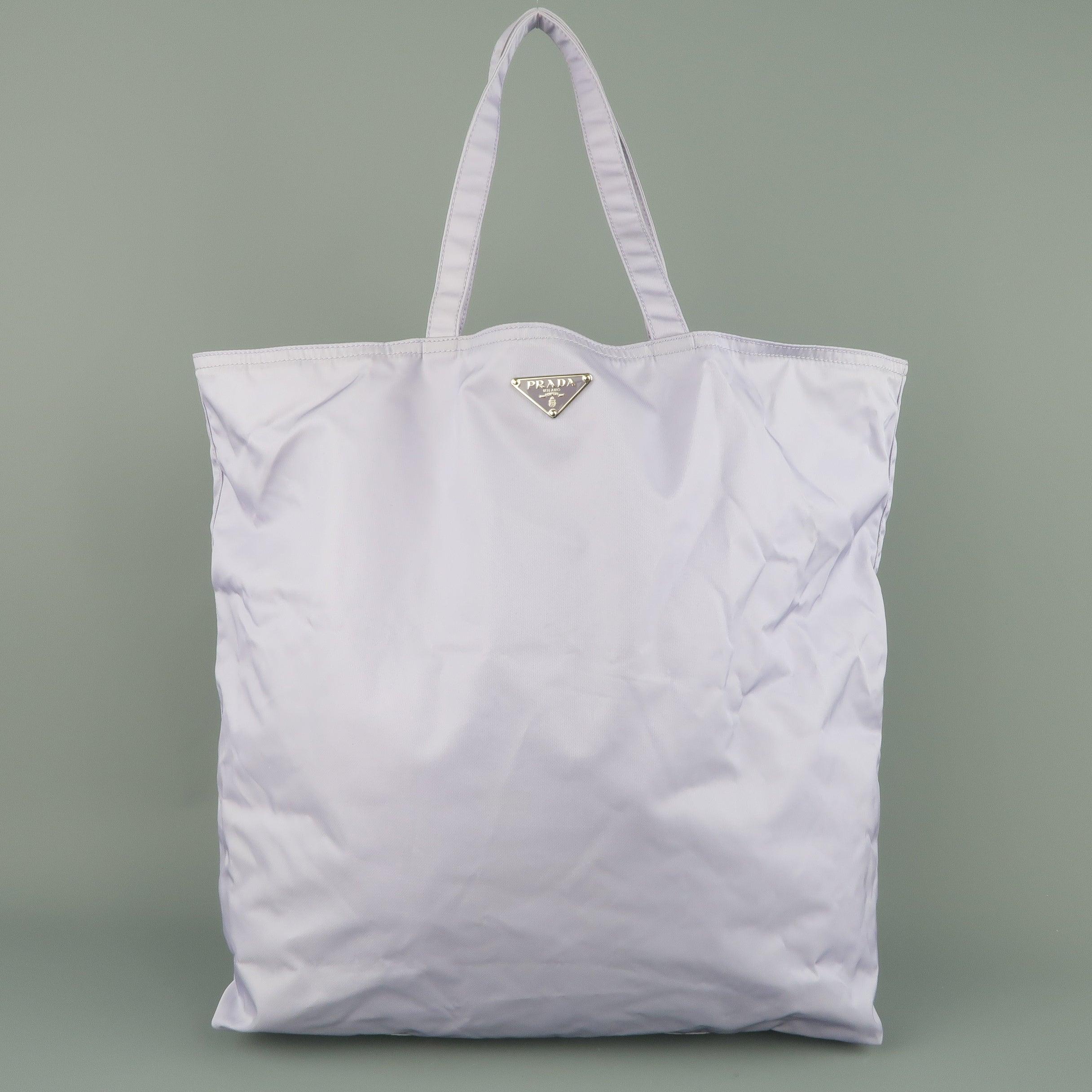 Prada Lavender Nylon Robot 6 Lady Embellished Tote Handbag BTl6Rm1l