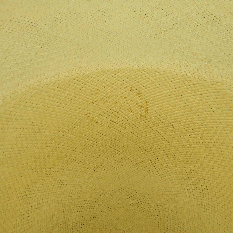 Vintage Beige Straw Wide Brim Sun Hat  5