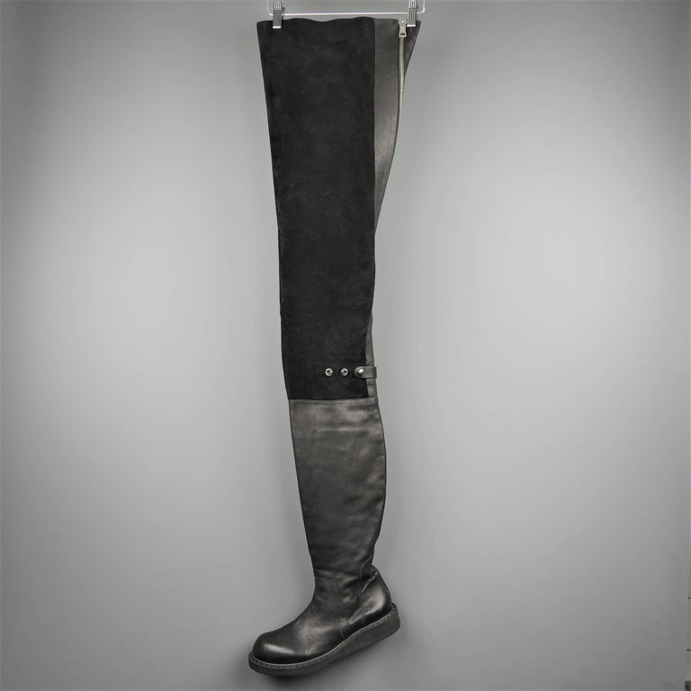 These rare RICK OWENS runway boots from the Spring 2011