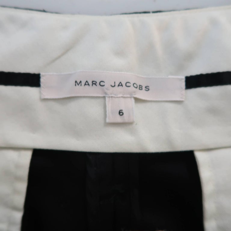 MARC JACOBS Size 6 Black Silk Wide Leg Pleated Culottes Pants For Sale 4
