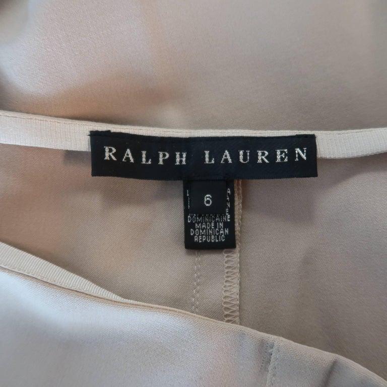 Women's RALPH LAUREN Size 6 Tan Stretch Wool Skinny Dress Pants For Sale