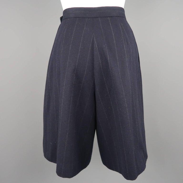 Women's RALPH LAUREN Size 8 Navy Wool Dress Short Pants For Sale