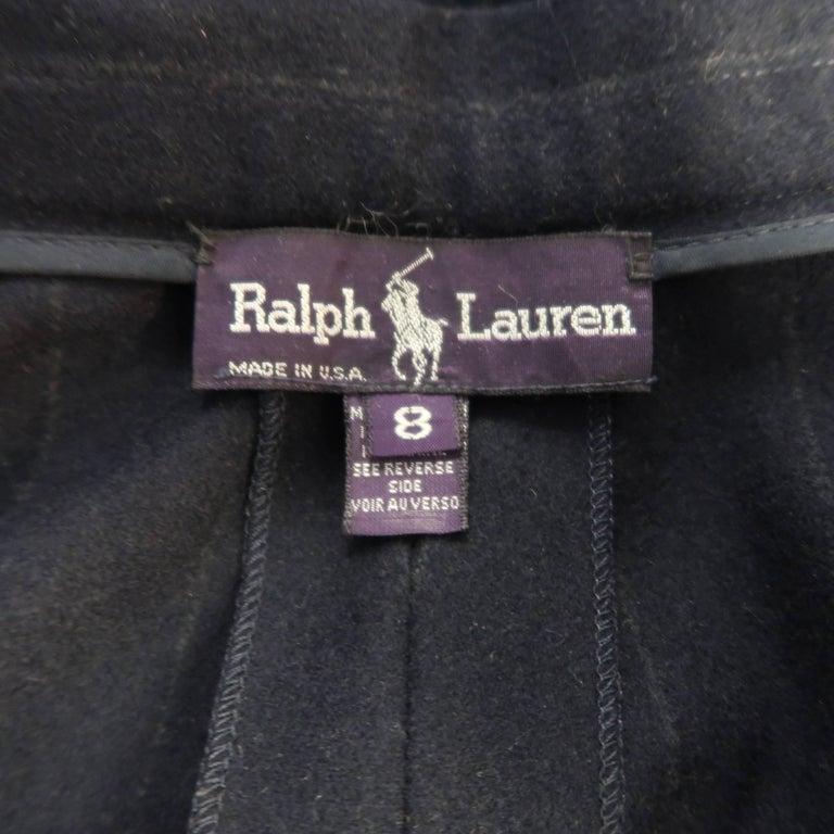 RALPH LAUREN Size 8 Navy Wool Dress Short Pants For Sale 1