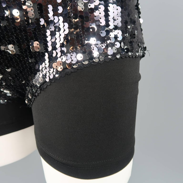 Dolce & Gabbana Black Lace and Sequin Pinup Lingerie, Fall 2011 Runway For Sale 2