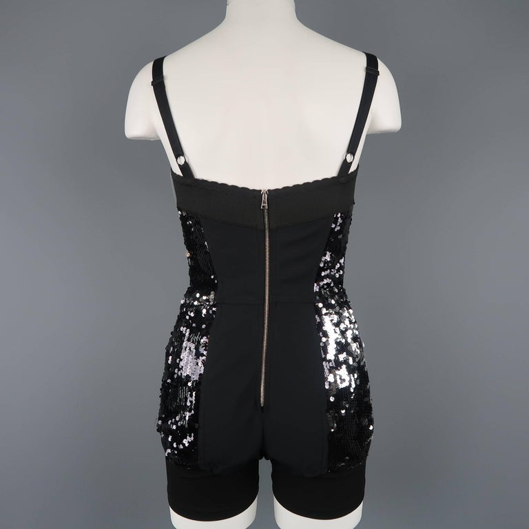 Dolce & Gabbana Black Lace and Sequin Pinup Lingerie, Fall 2011 Runway For Sale 5