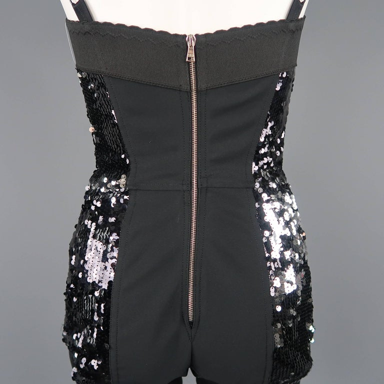 Dolce & Gabbana Black Lace and Sequin Pinup Lingerie, Fall 2011 Runway For Sale 6
