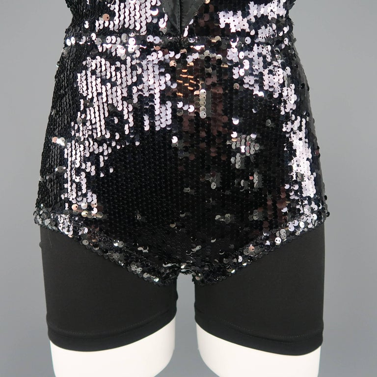 Dolce & Gabbana Black Lace and Sequin Pinup Lingerie, Fall 2011 Runway For Sale 1