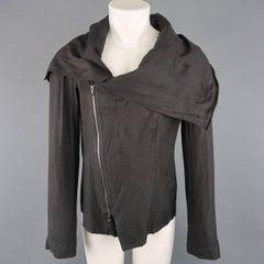 Men's JULIUS_7 38 Charcoal Cotton Blend Wire Collar Jacket