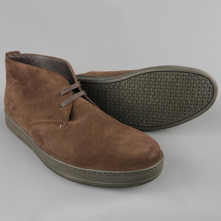Black TOM FORD Size 11 Brown Suede Rubber Sole Chukka Boots For Sale