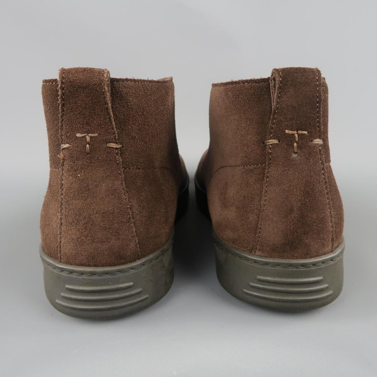 TOM FORD Size 11 Brown Suede Rubber Sole Chukka Boots In Good Condition For Sale In San Francisco, CA