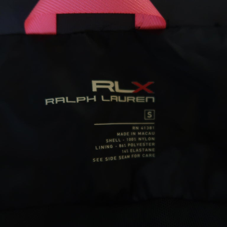 RLX by RALPH LAUREN Size S Gray Nylon Hooded Batwing Sleeve Jacket For Sale 5