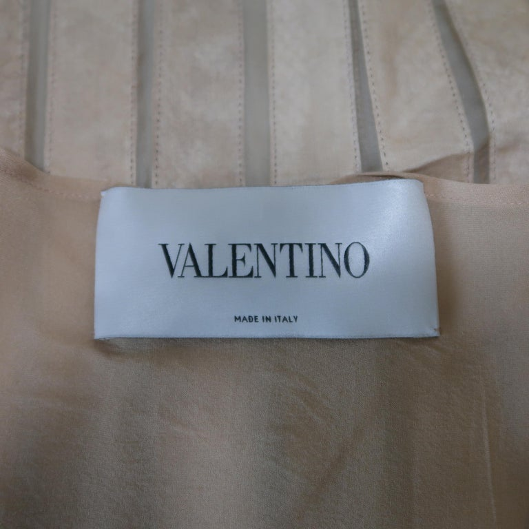 Valentino Silk and Snake Skin Pleated Cocktail Dress, Spring 2013 Runway  For Sale 10
