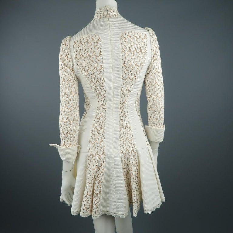 3f83e61500a Alexander McQueen White Cream Lace Cocktail Dress