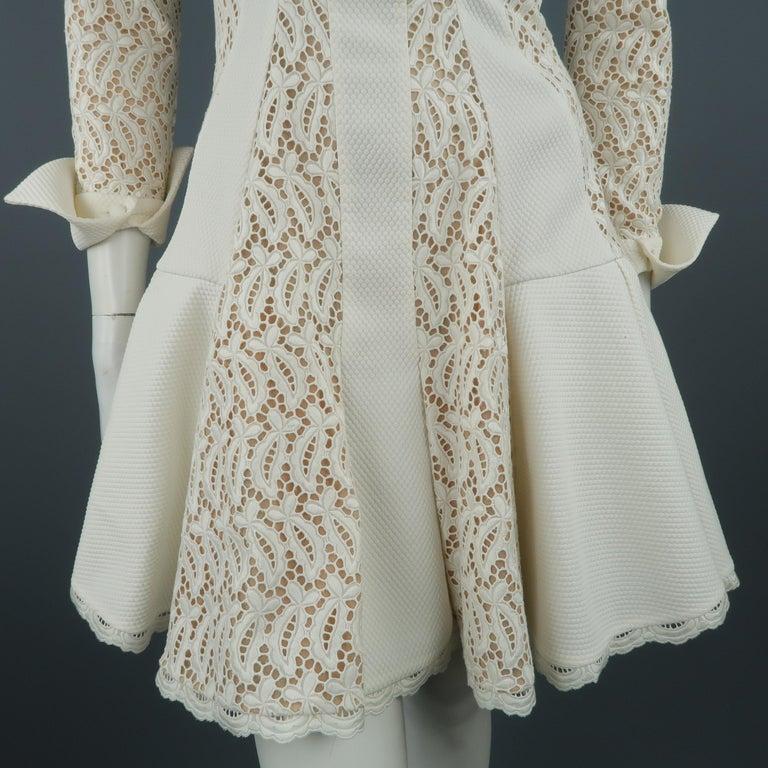 8e2de00081c Women s Alexander McQueen White Cream Lace Cocktail Dress