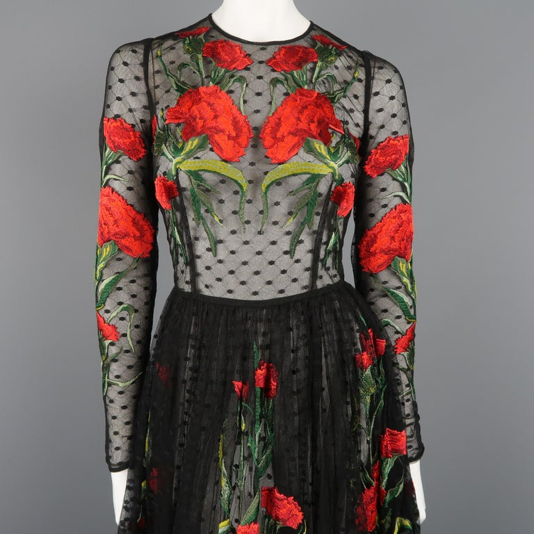 Black Dolce & Gabbana Runway Gown Dress, Spring 2015  For Sale