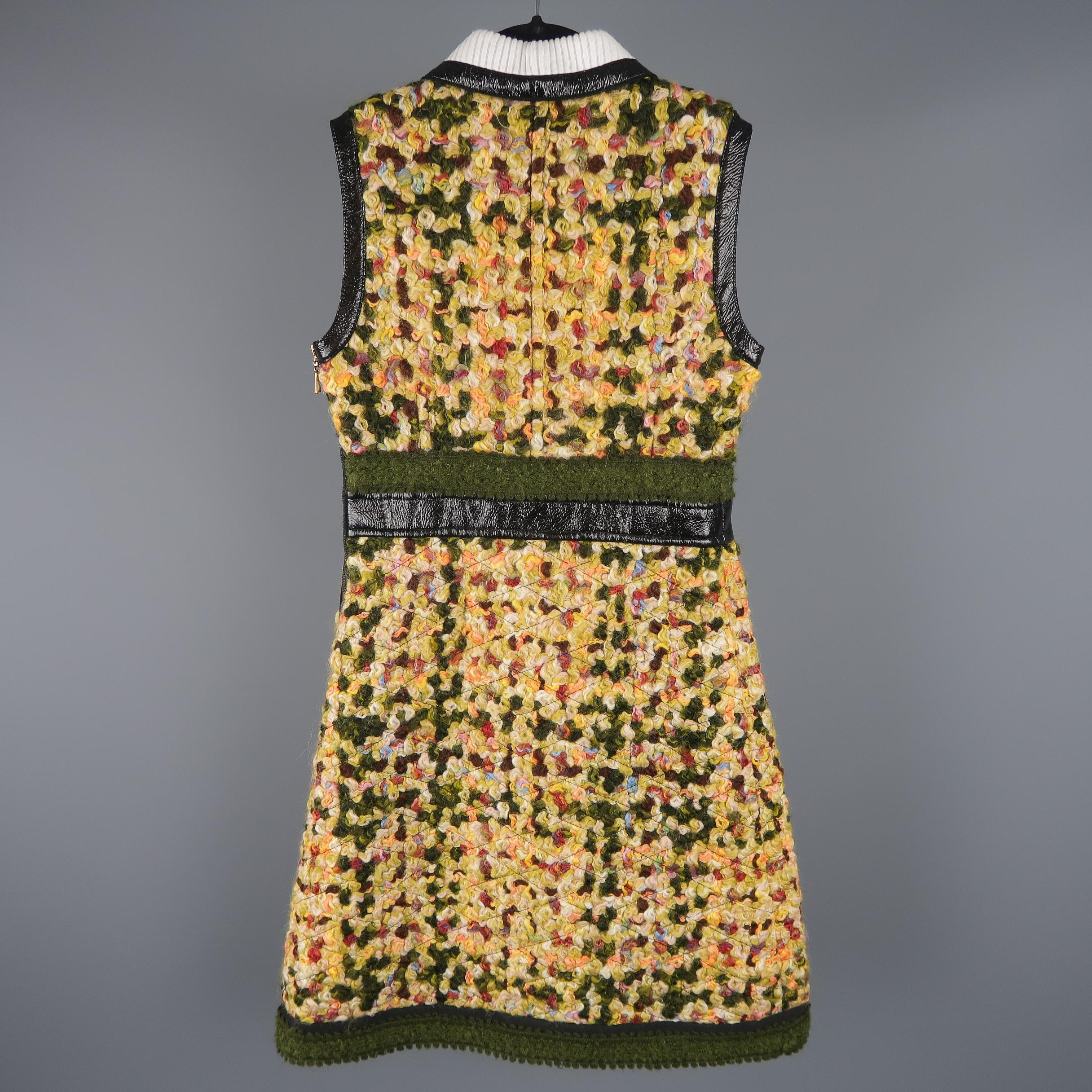 Yellow Leather Dress