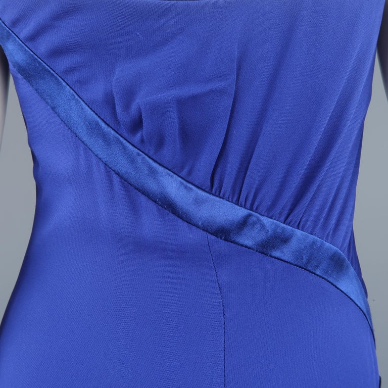 Valentino Royal Blue Strapless Bustier Gown w/ Beaded Bolero / Dress For Sale 13